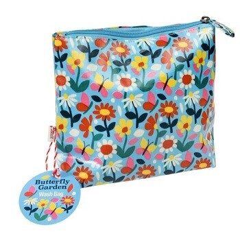 Oilcloth Butterfly Washbag