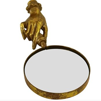 Gold Metal Hand Magnifying Glass