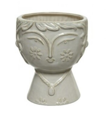 Porcelain Lady Face Vase
