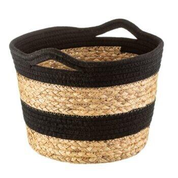 Black Rope and Grass Stripe Basket