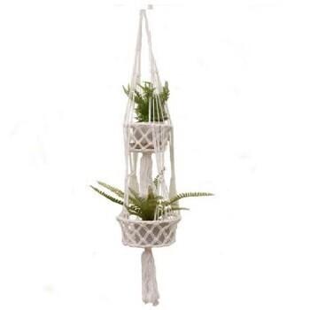 Double Macrame Hanging Basket