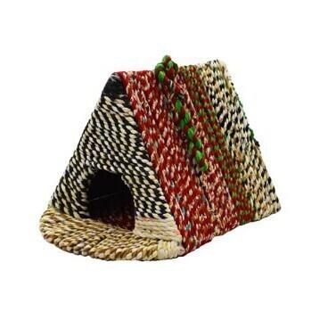 Pyramid Recycled Sari Bird House