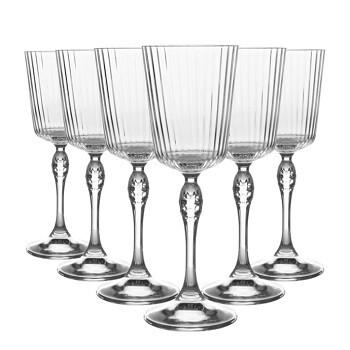 Set of 6 1920s Style Stemmed Glasses