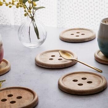 Button Coasters Lifestyle