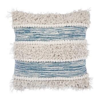Blue Tufted Cushion