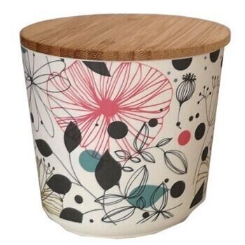 Botanical Flower Bamboo Pot