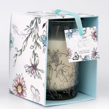 Floral Glass Candle Pot