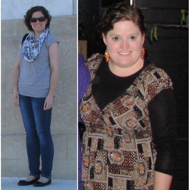 Prednisone weight gain - 6 months difference.