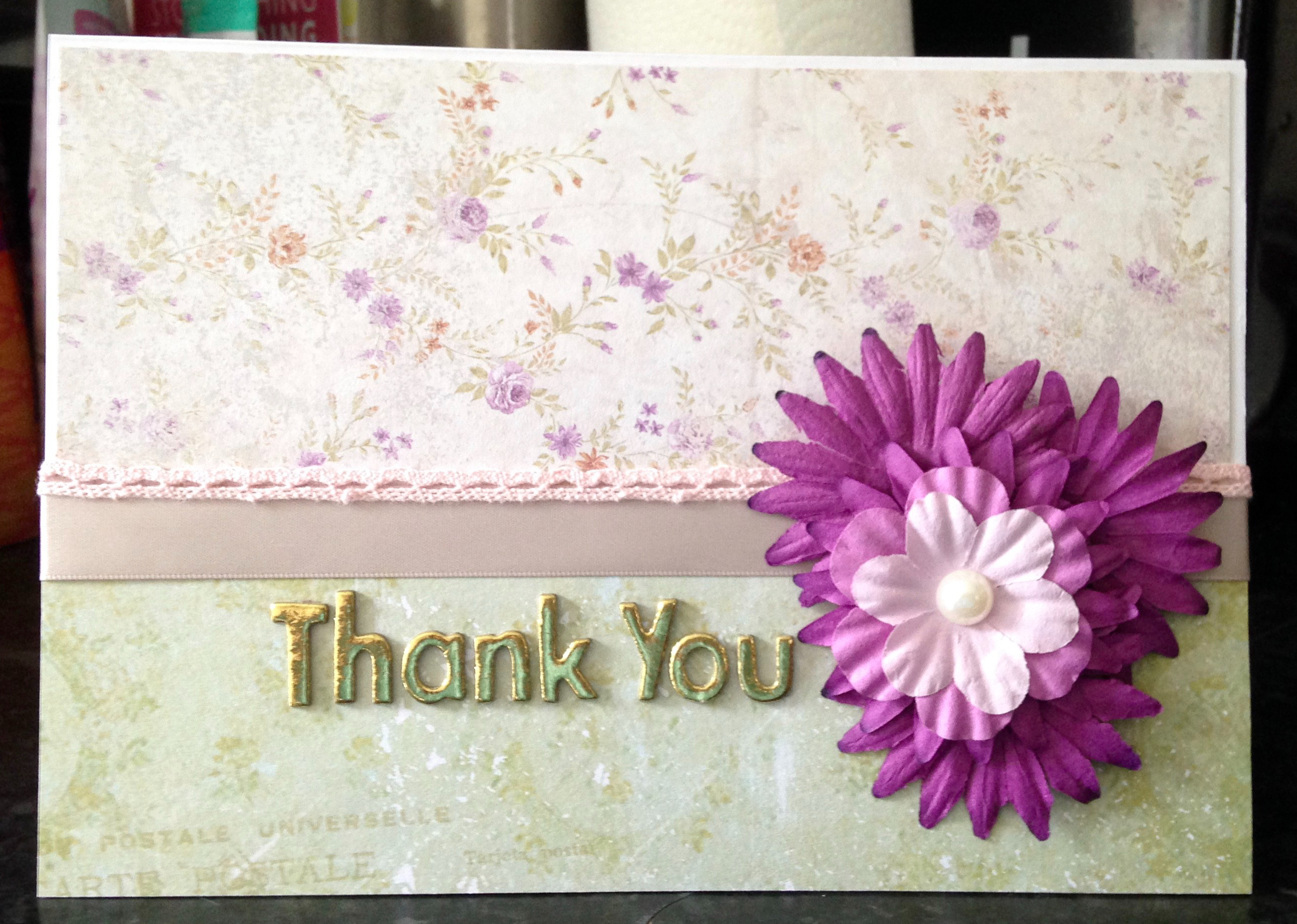 The card I made for the family of my donor.
