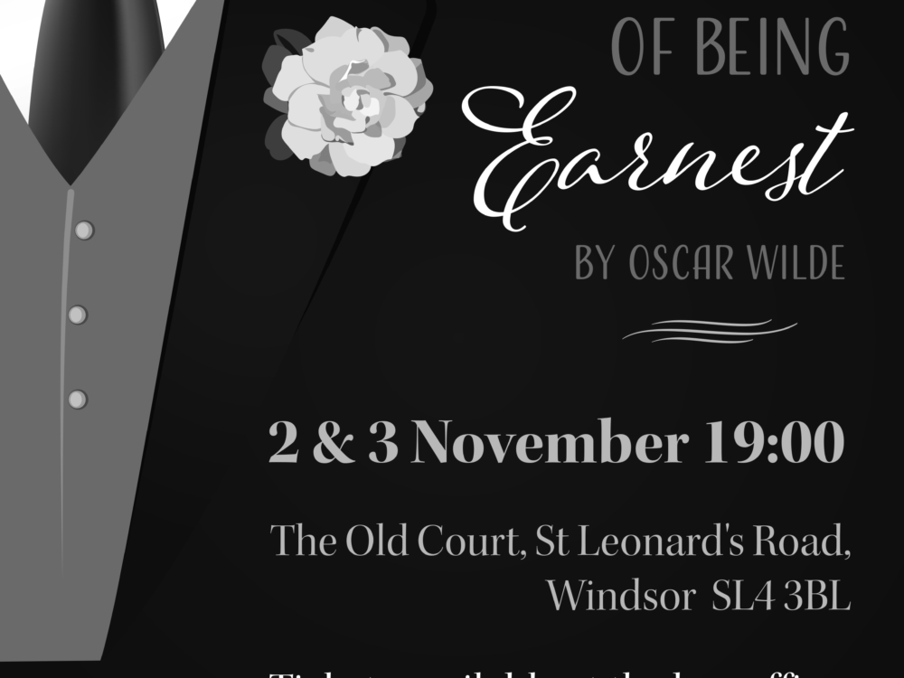 Importance of Being Earnest Poster Design