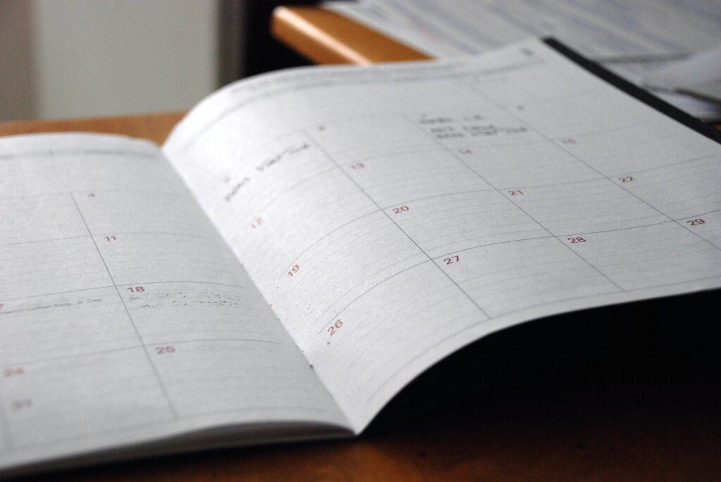 Agenda para ser productivo