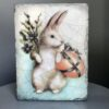 Easter Bunny SP02 Sid Dickens Block is handmade & unique with an inscription 'Bringing joyful laughter and sweet memories; the search begins!'