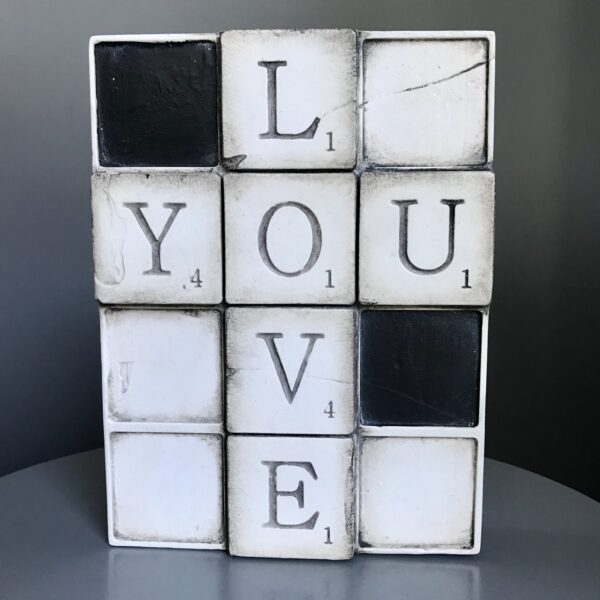 """Love You WP01 Sid Dickens Block which is inscribed stating '""""The way to love anything is to realize that it may be lost."""" - Gilbert K. Chesterton'"""