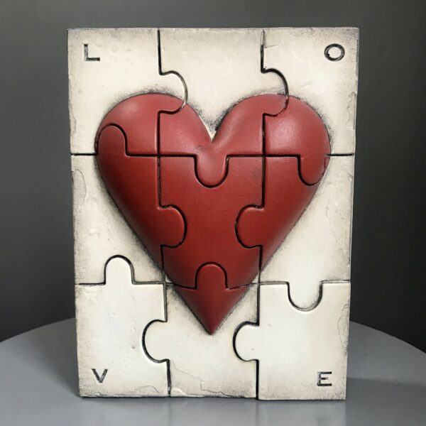 Beloved SP13 Sid Dickens Memory Tile from Canada but supplied in the UK is a limited stock item, inscribed 'Pieces destined to fit together, making us one and complete.'