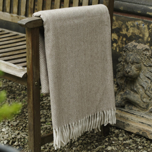 This beautiful Recycled Wool Blanket is soft and luxurious, perfect to snuggle into on a cold winter night.