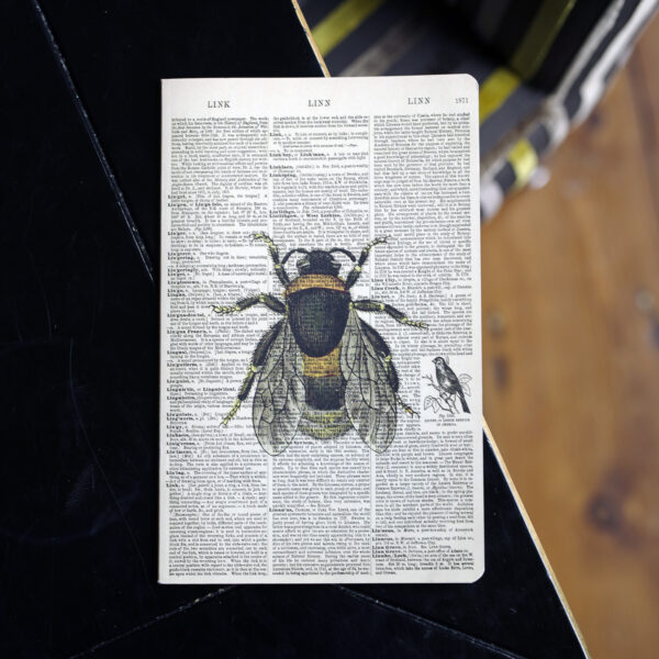 Bee Dictionary Art Cute Notebook