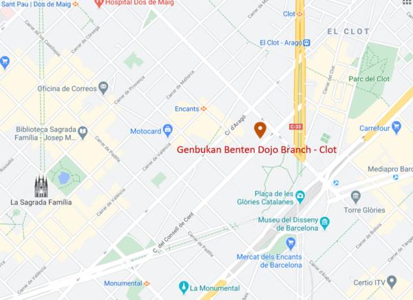 benten dojo branch clot map