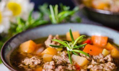Supa od mljevenog mesa i povrća!
