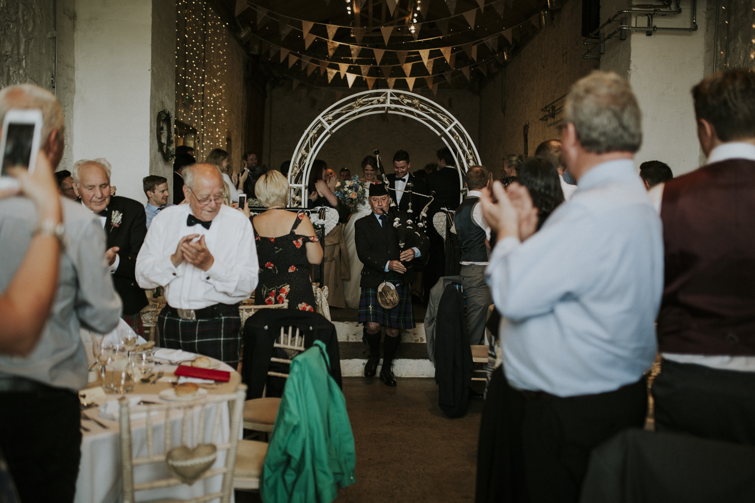 bagpiper bride and groom entrance