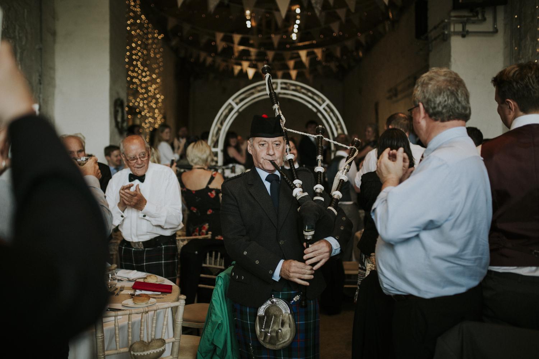 bagpiper wedding reception