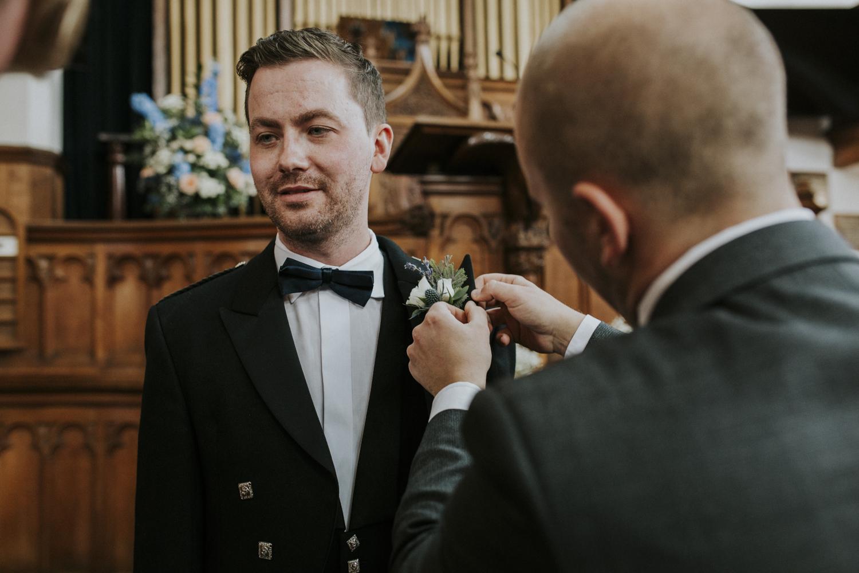 groom flower