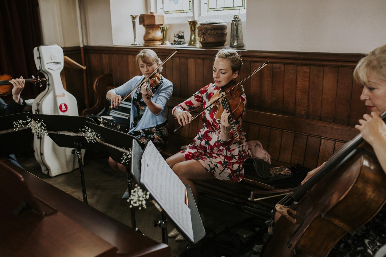 orchestra at church wedding