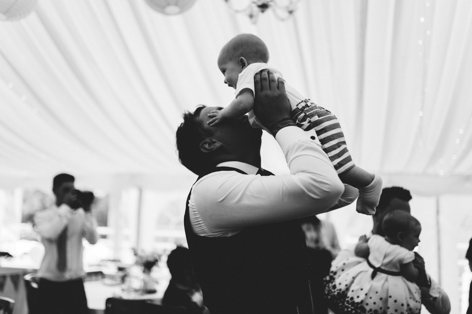 dad and baby dancing