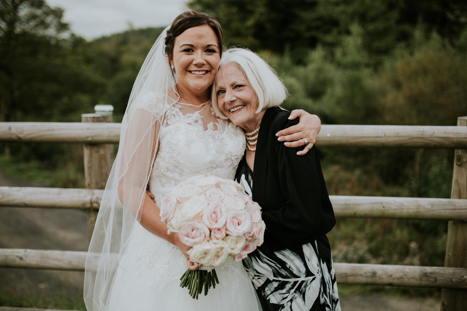 bride and her nan