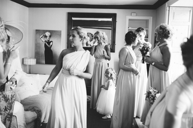 bridesmaids crying