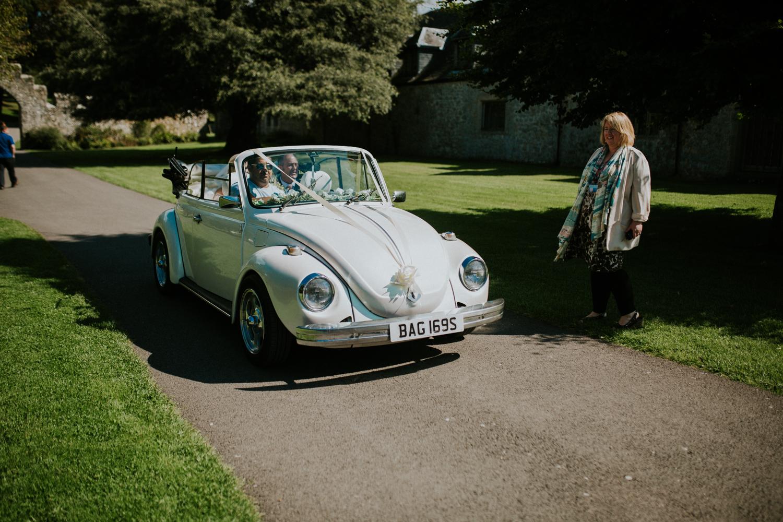 car arriving at st donats castle