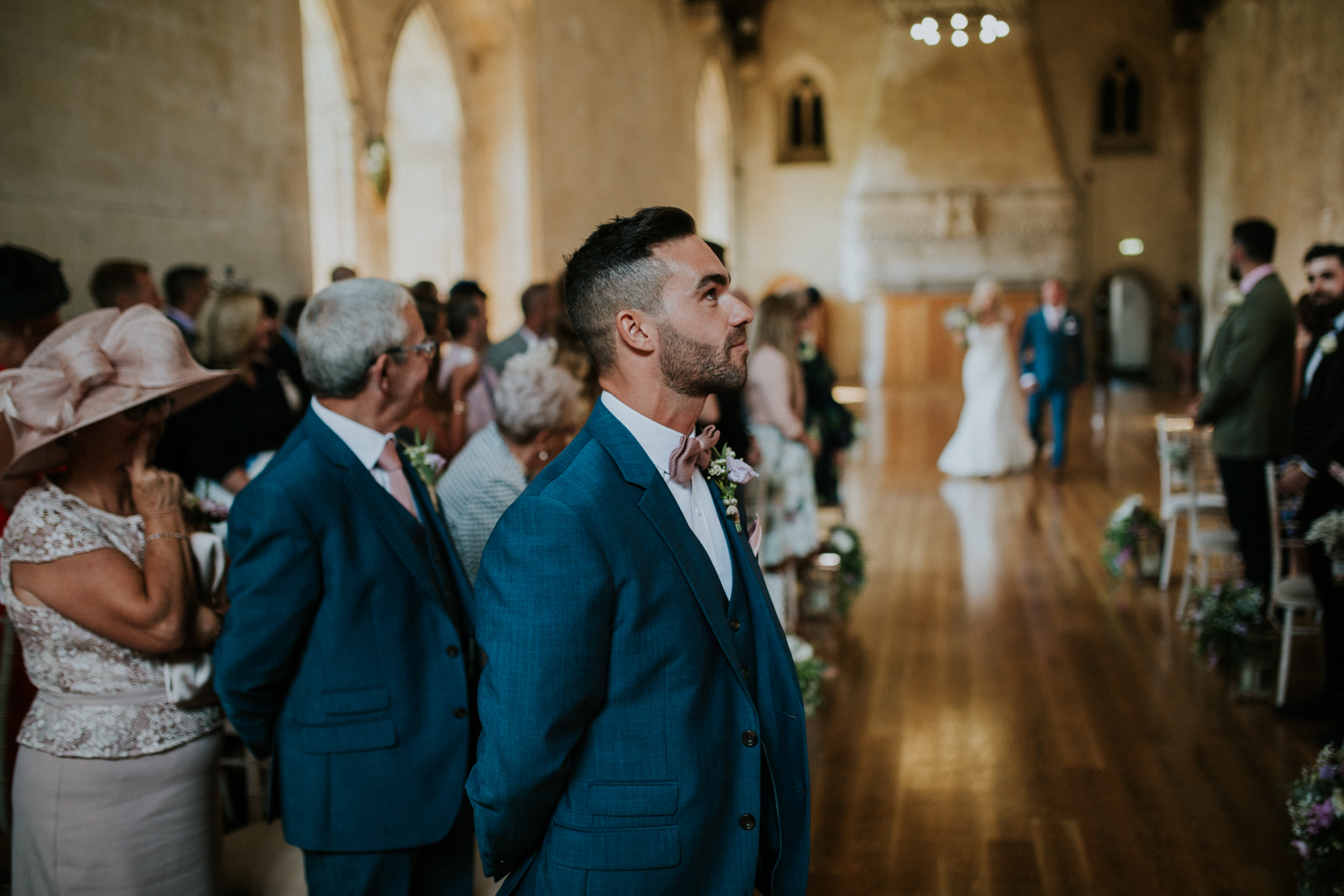 groom sees the bride for the first time