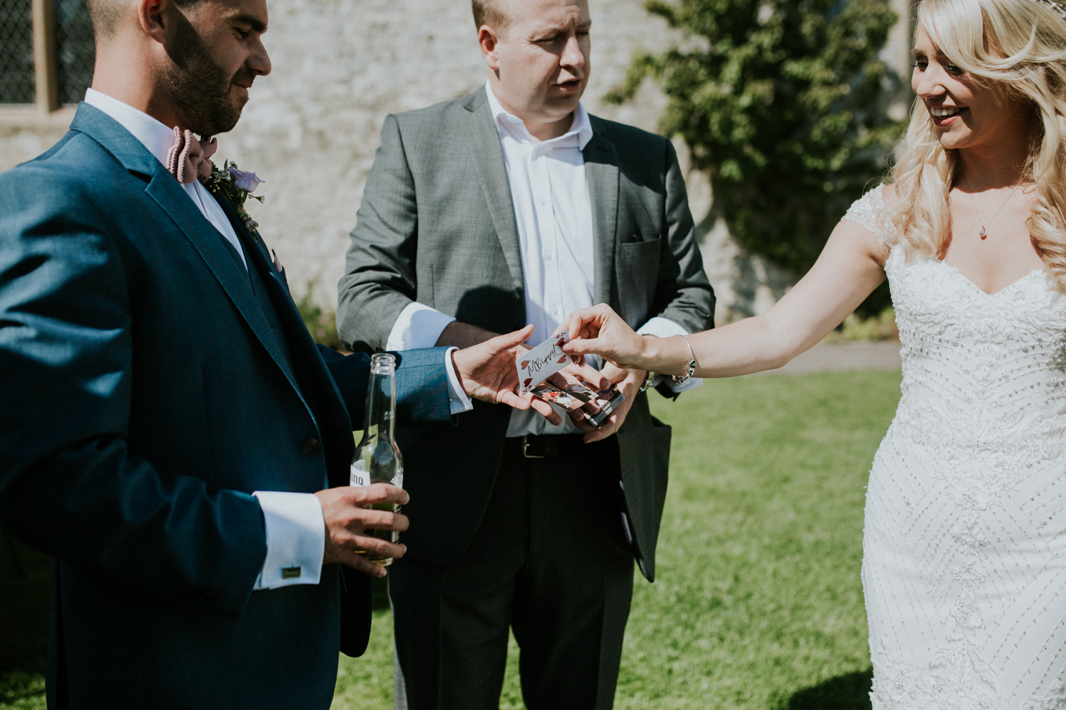 bride, groom and the magician