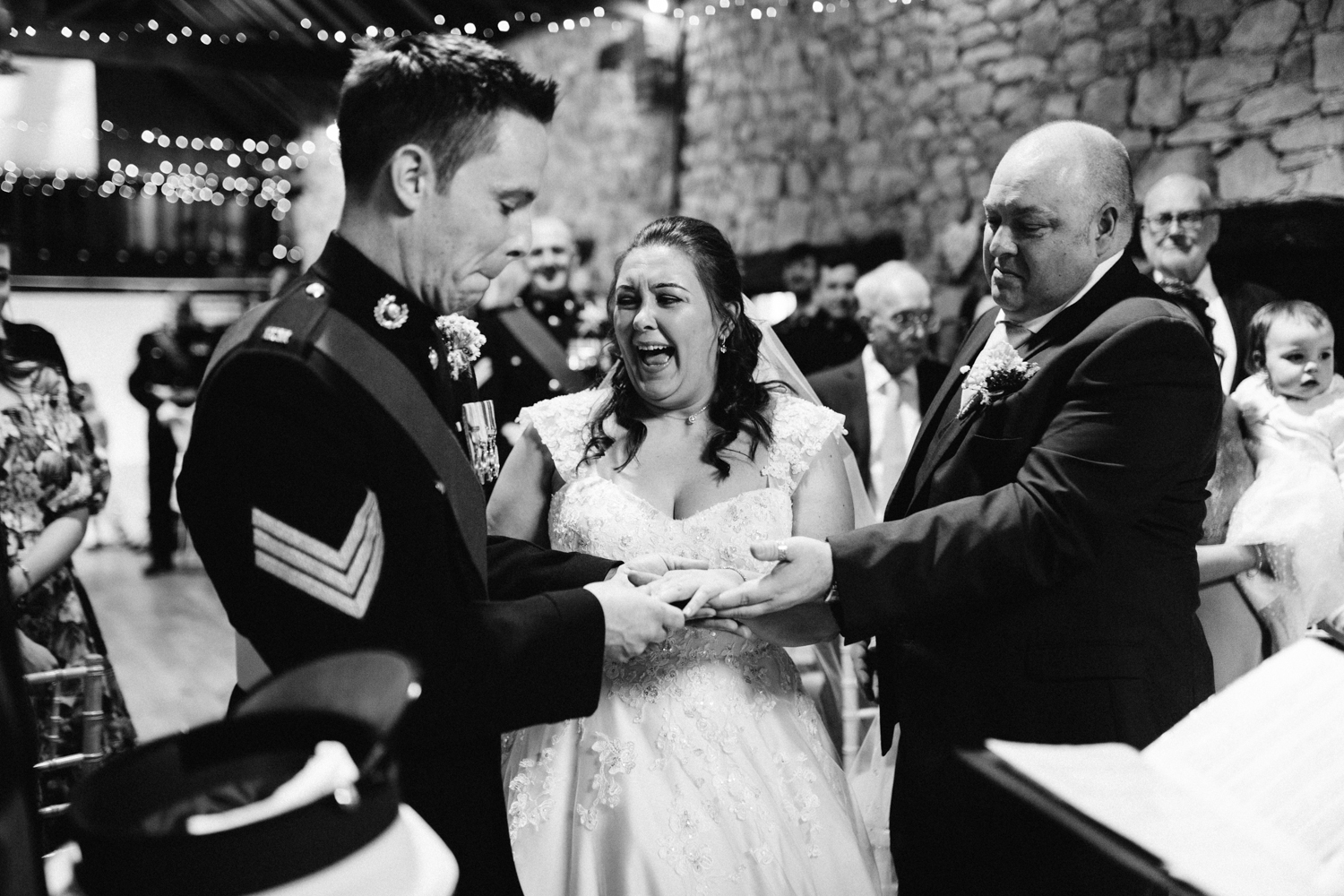 brother giving bride away