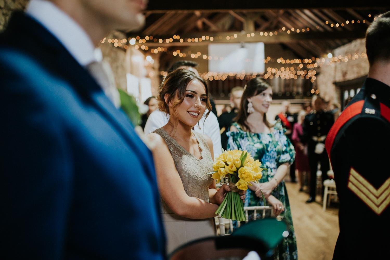 bridesmaid smiling