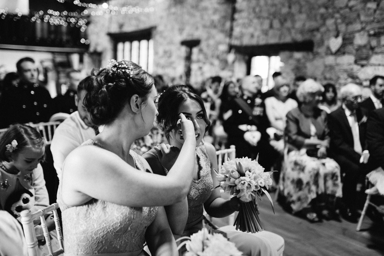 bridesmaid crying