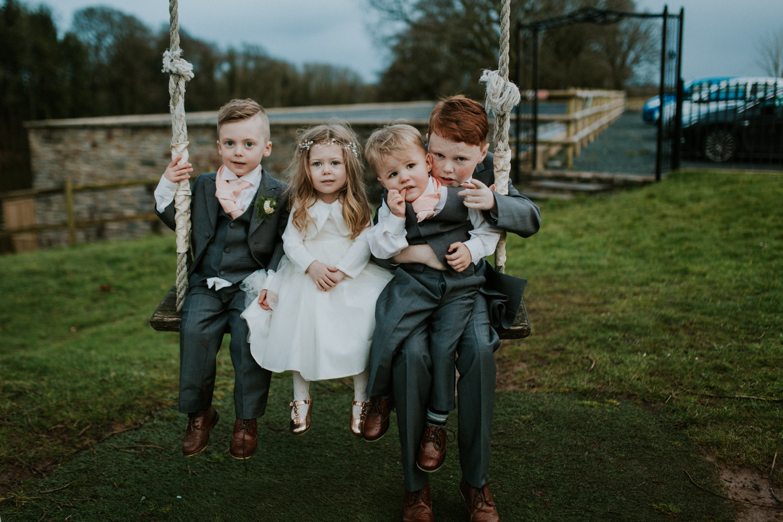 kids on the swing