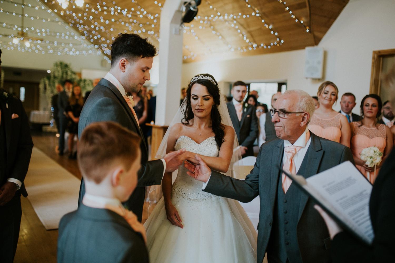 grandad giving bride away