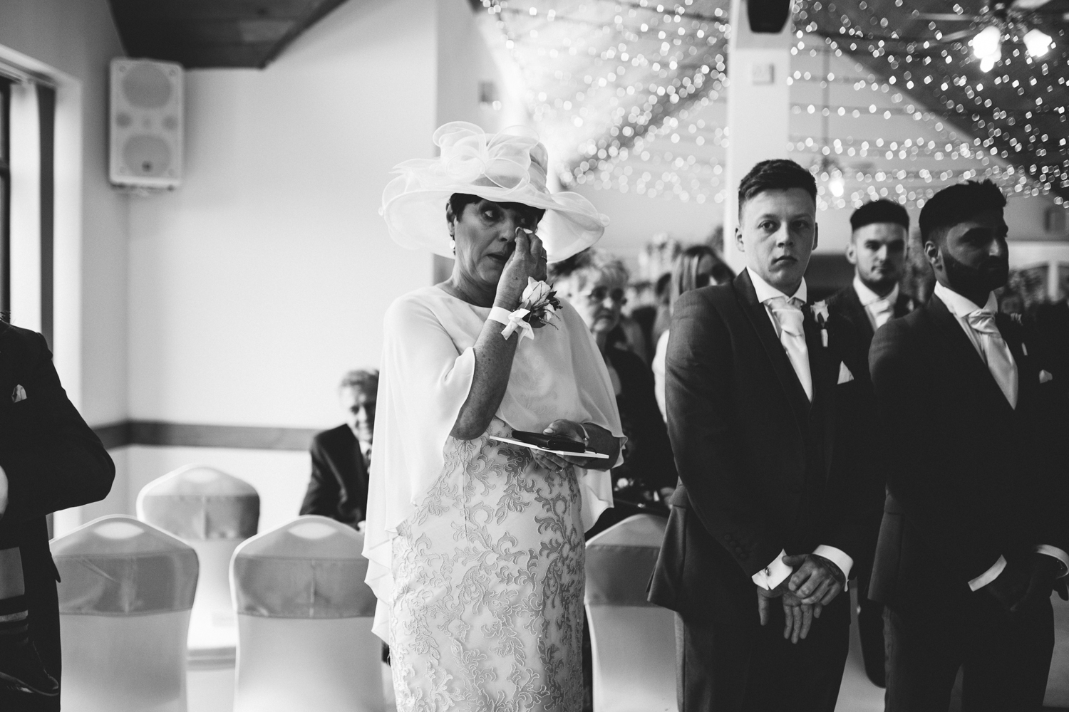 mother of the groom crying
