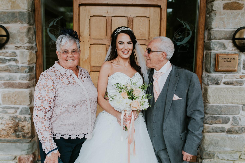 bride and grandparents