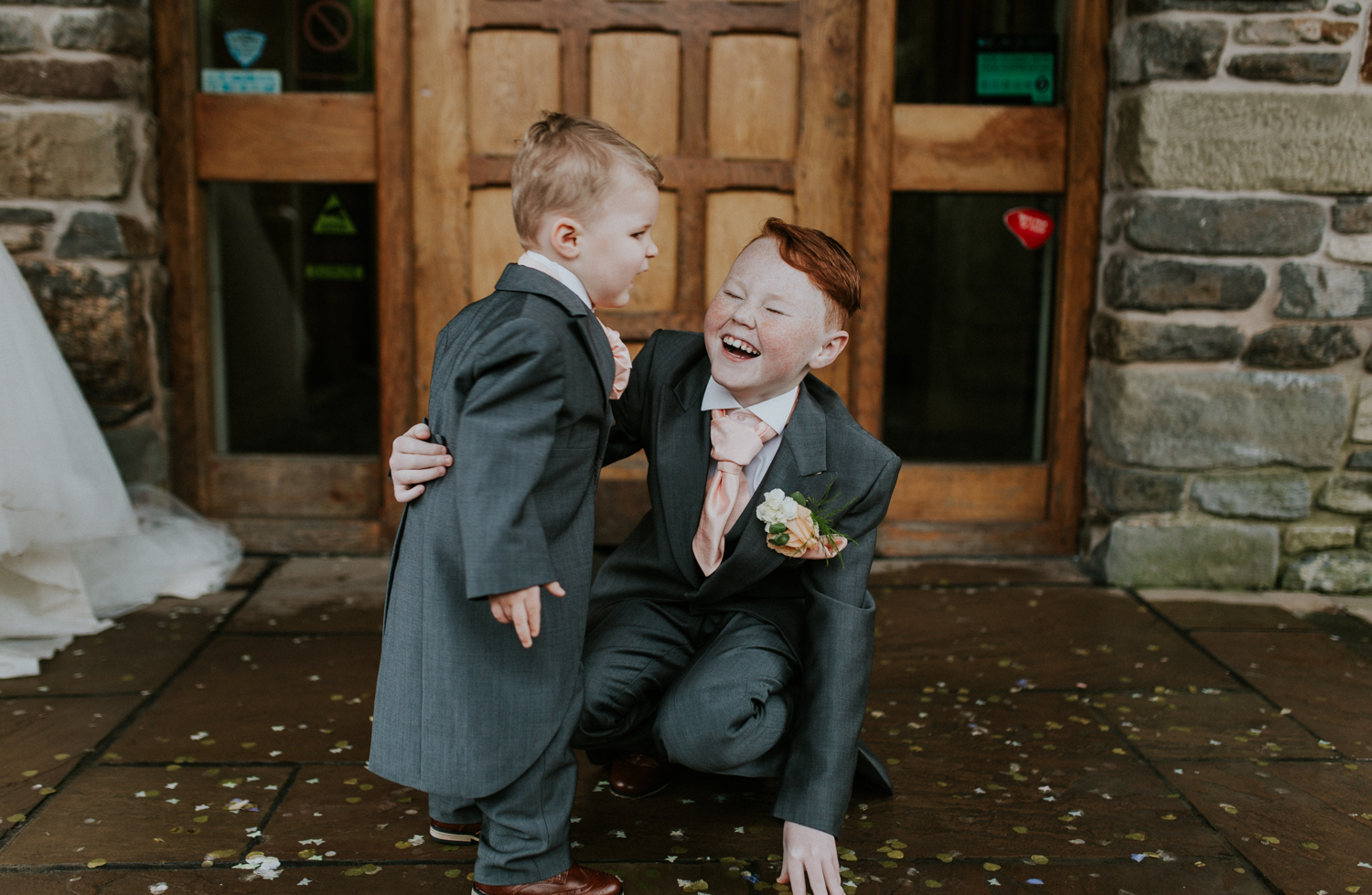 brothers laughing