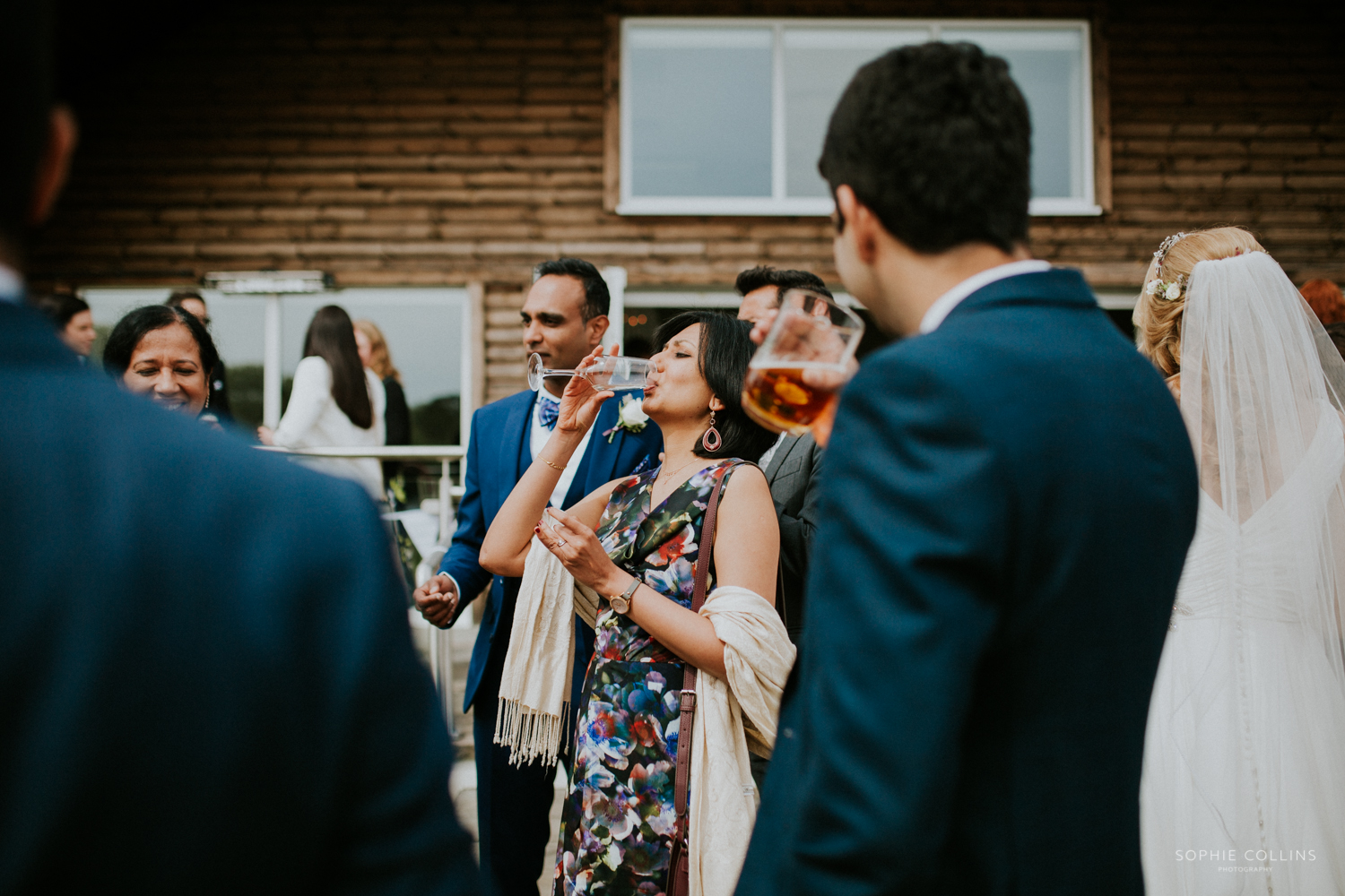 guests drinking