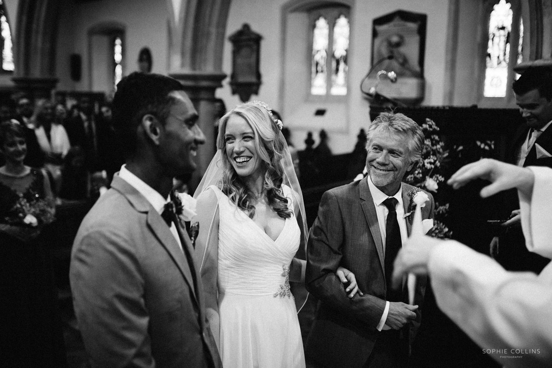 bride in ceremony