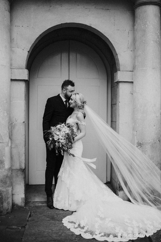 groom kissing the bride