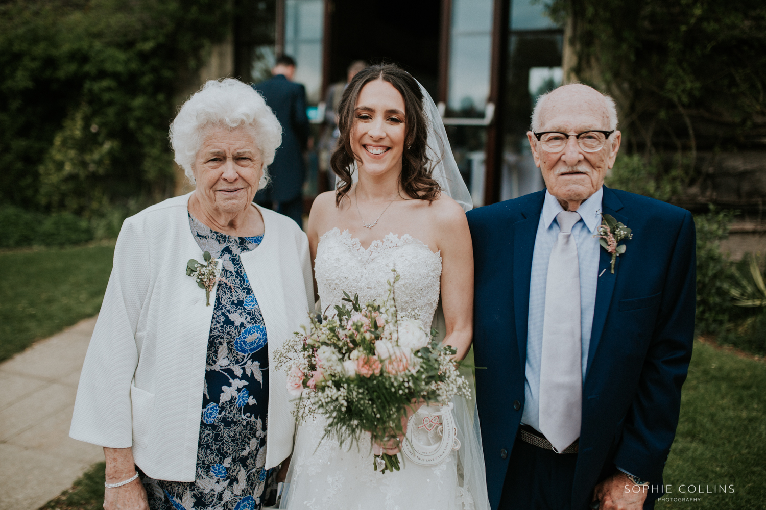 bride with grandparents