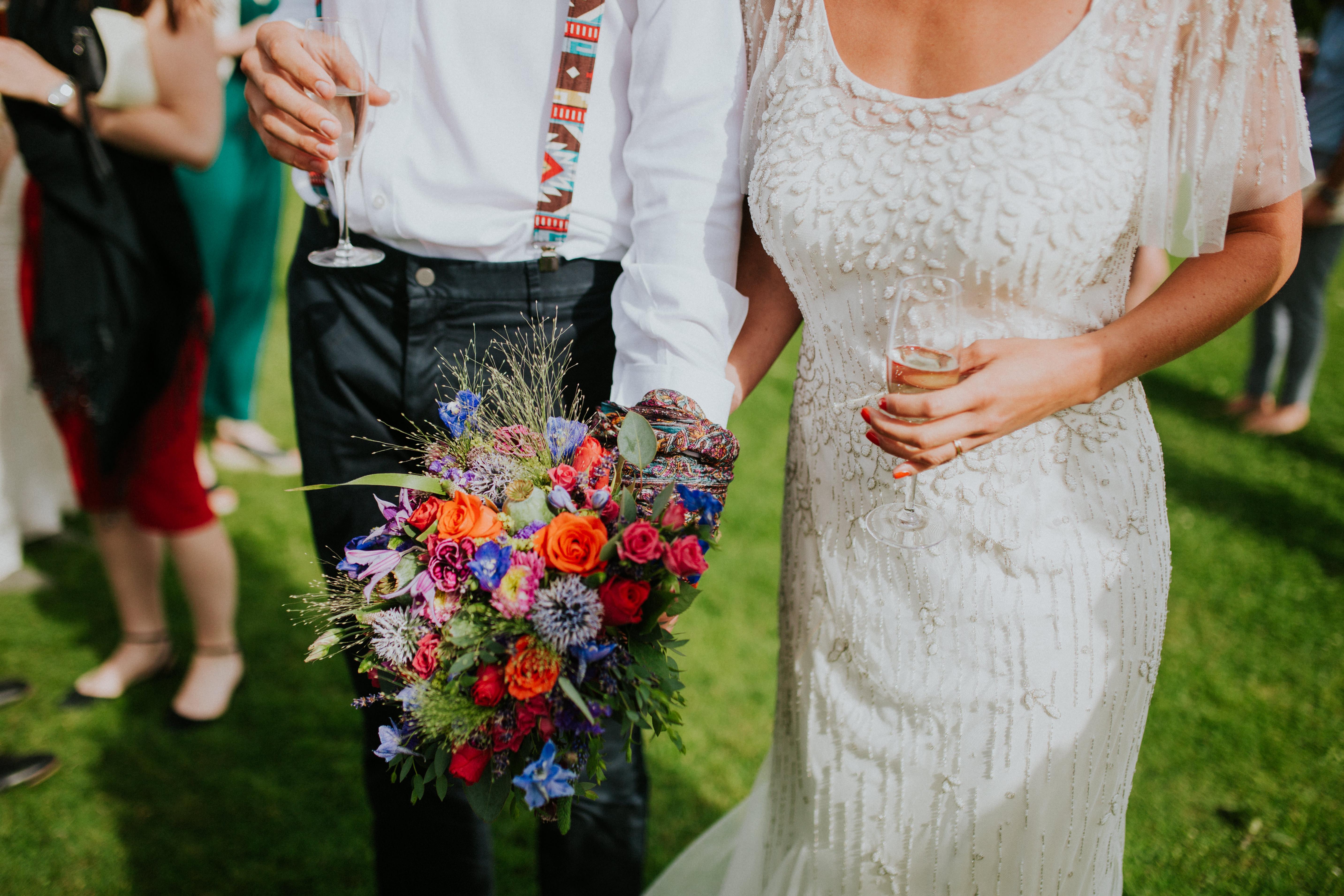 bride and groom hand binding