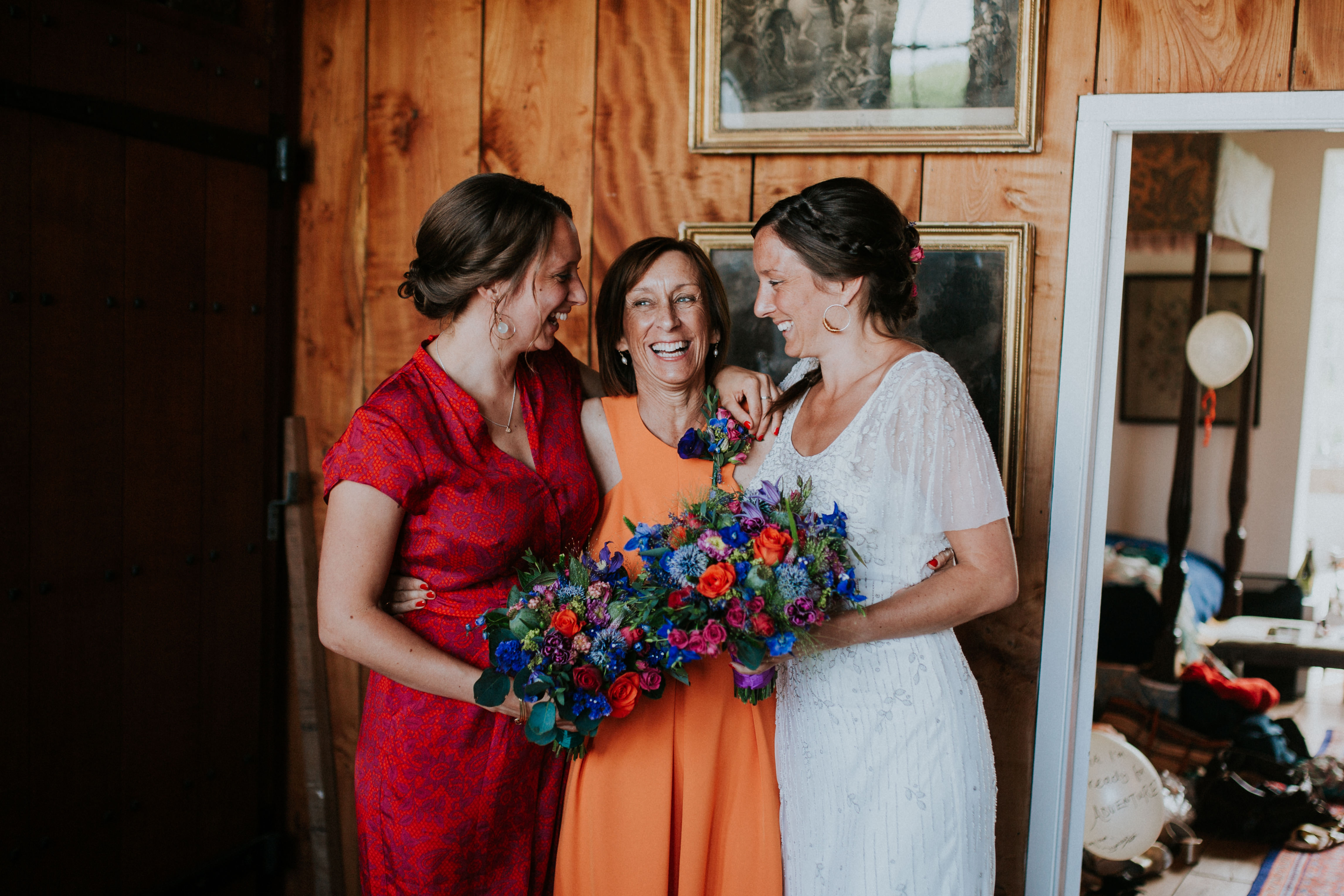 bride, sister and mother