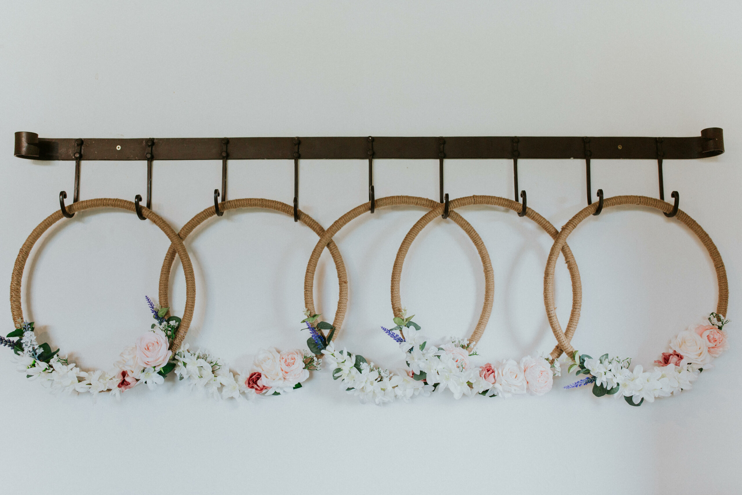 flower hoops for the bridesmaids