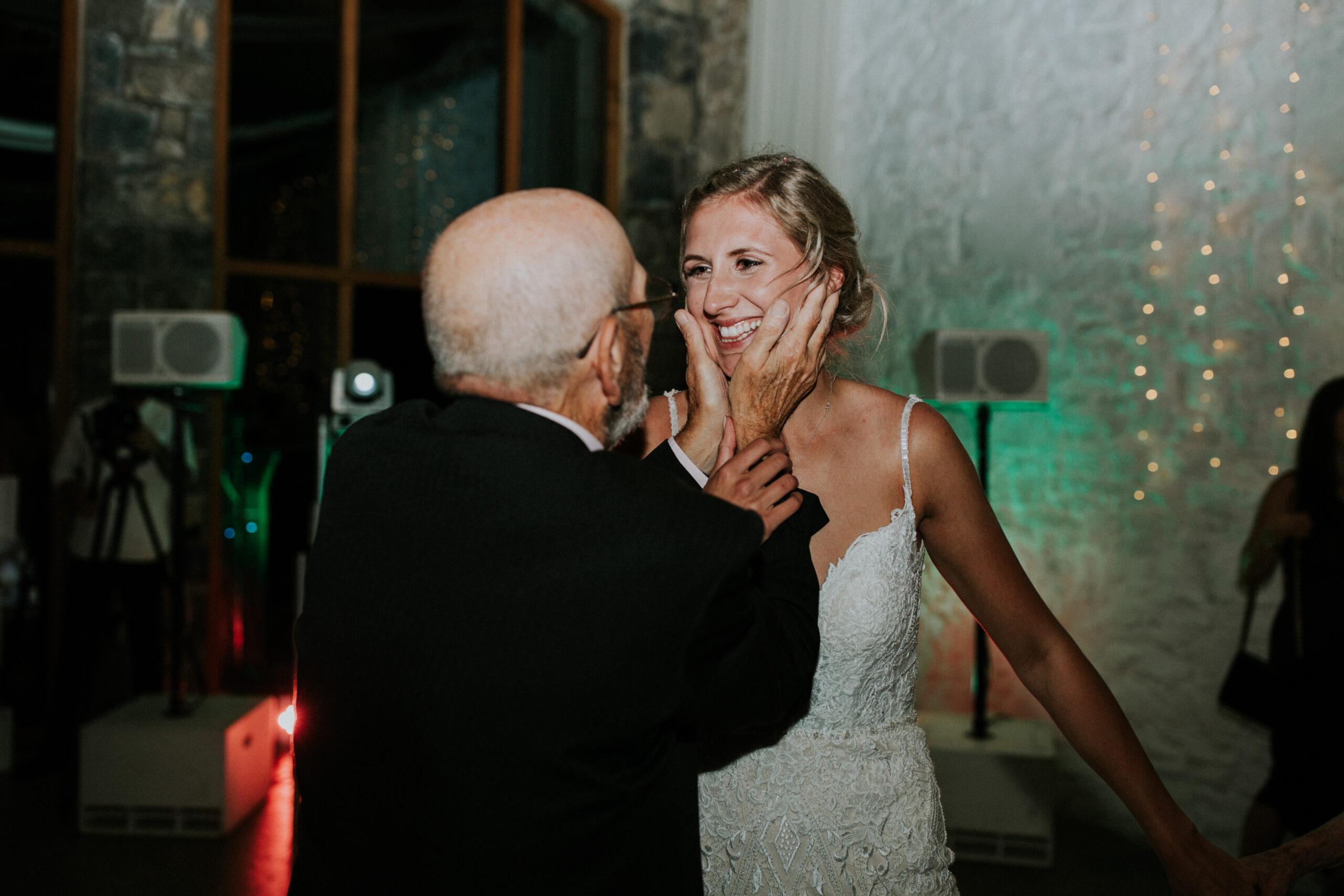 brides family member holding her face