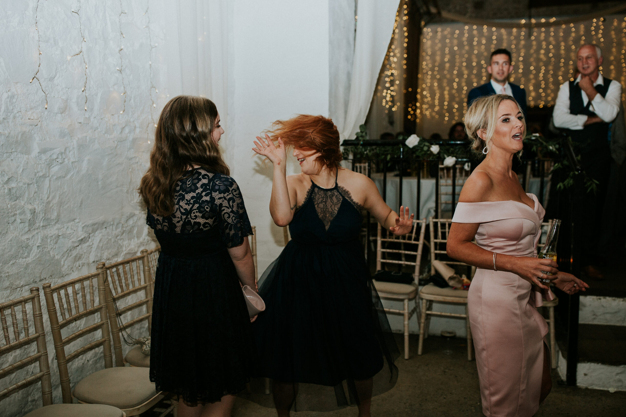 guests dancing and singing