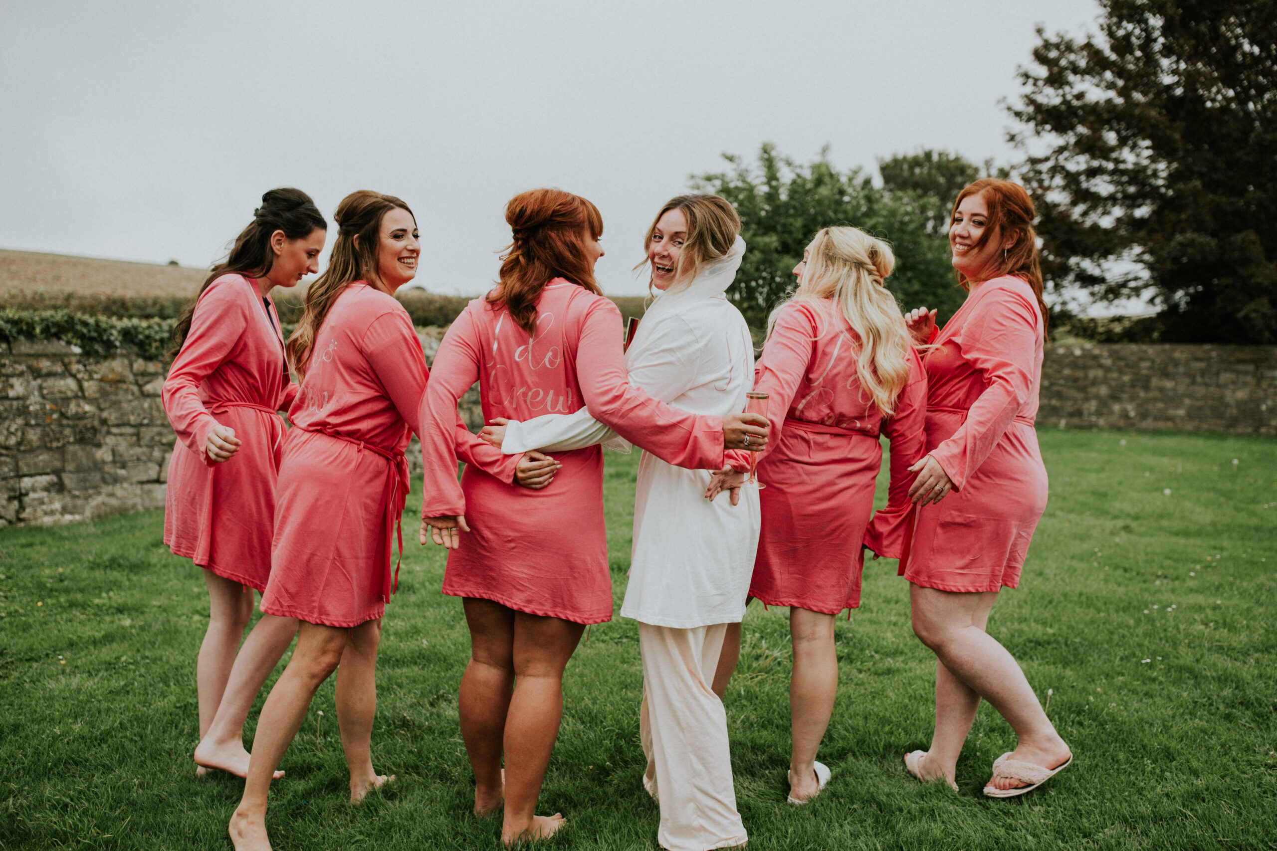 bridesmaids group shot